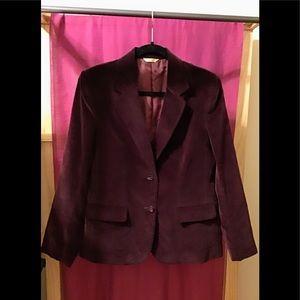Vintage Maroon Velvet Blazer / Jacket